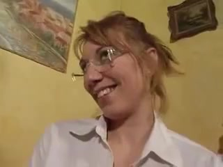 french blonde with glasses gets her perfect ass fucked