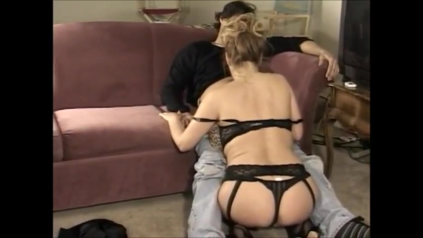 Horny mature in black stockings