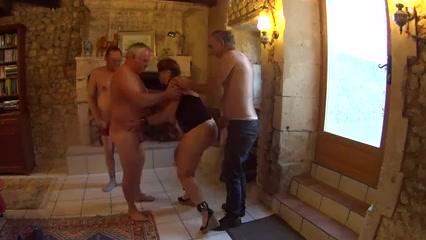 3 mature men uses france whore