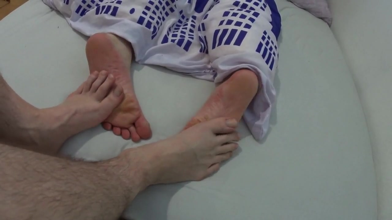 Playing footsies with my best friend