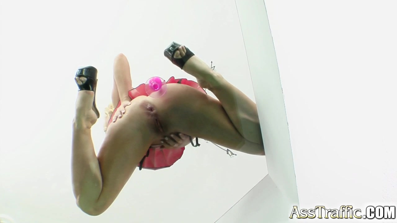 Katy sucks cock and gets ass fucked.