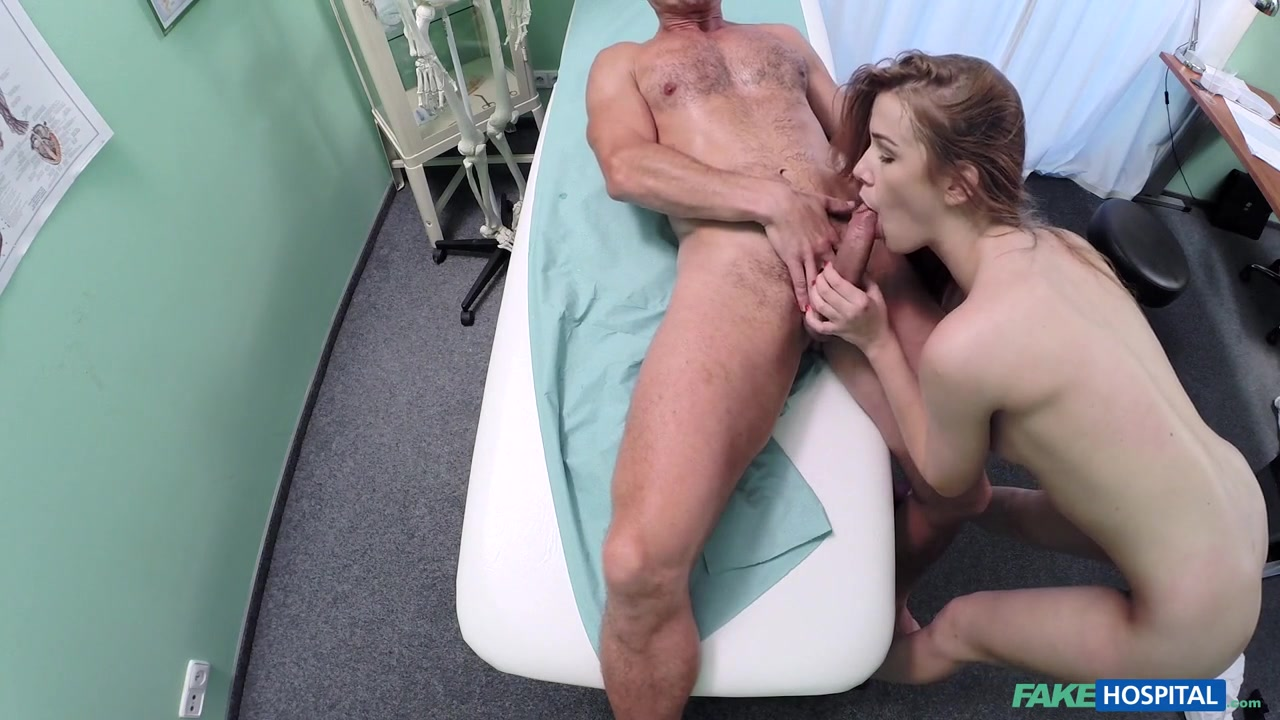 Alexis in Toned sexy patient cums in nurses mouth on doctors desk - FakeHospital