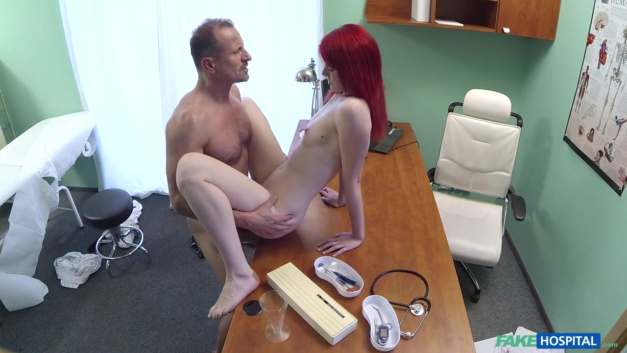 Anne in Cute Redhead Rides Doctor for Cash - FakeHospital