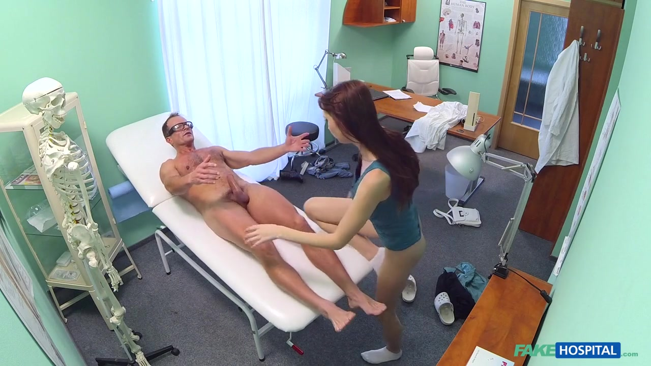 Chelsy in Horny sexy slim patient wants doctors cock after catching him with his nurse - FakeHospital