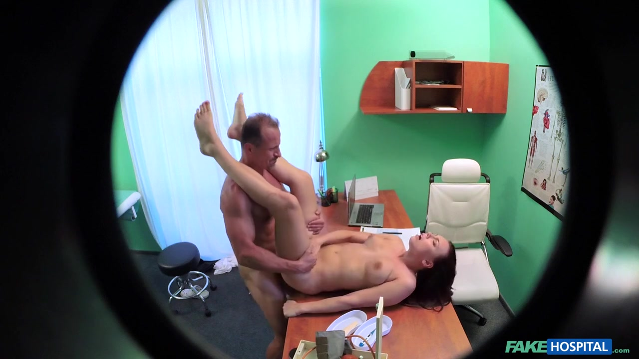 Morgan in Brunette turns a massage tool into a sex toy - FakeHospital