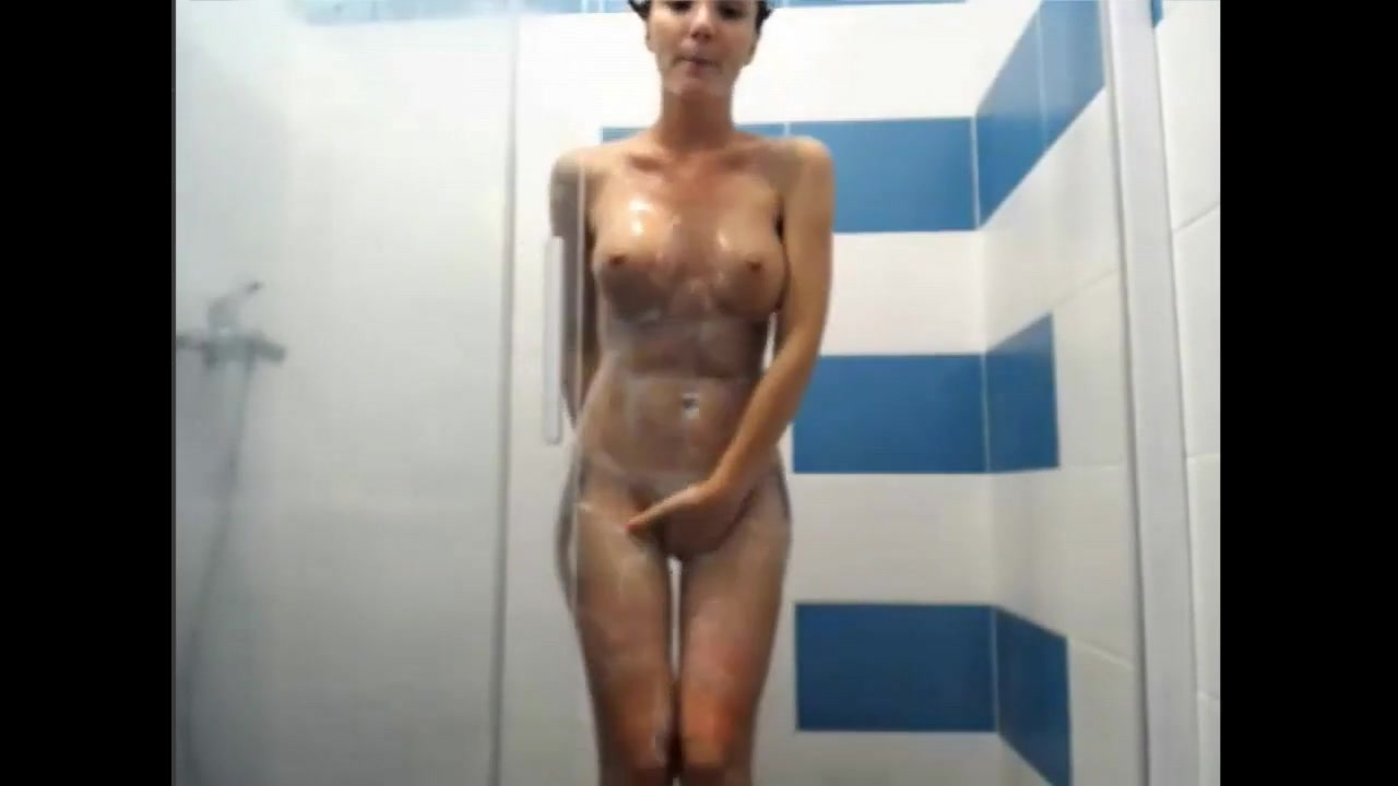 Hot gal in the shower