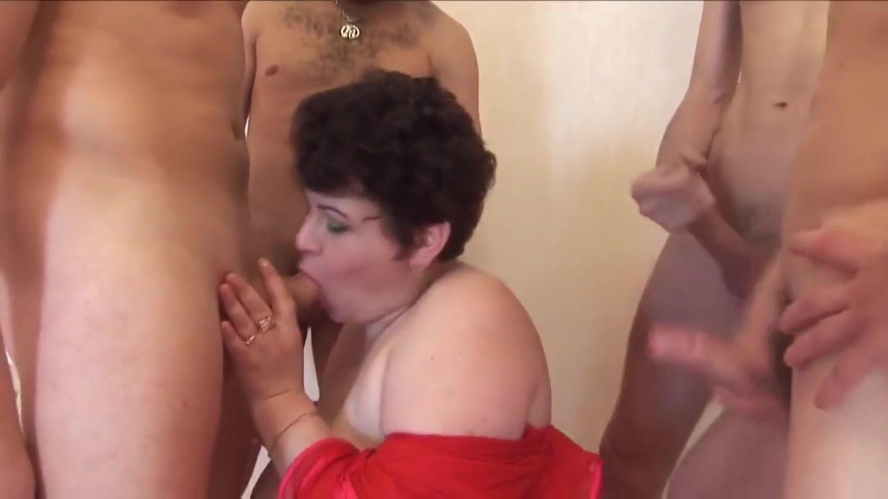 Bbw russian mom and her maasive boobs gangbanged