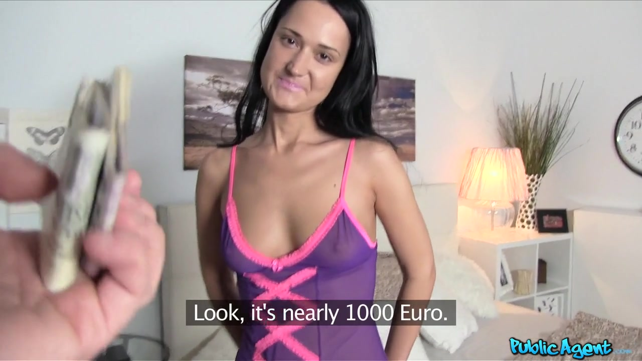 Angelina in Russian babe takes cash and cock - PublicAgent