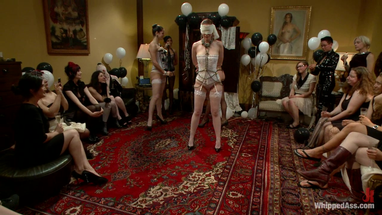 Justine Jolis Whipped Ass Electrosluts LIVE and PUBLIC all girl birthday BDSM orgy