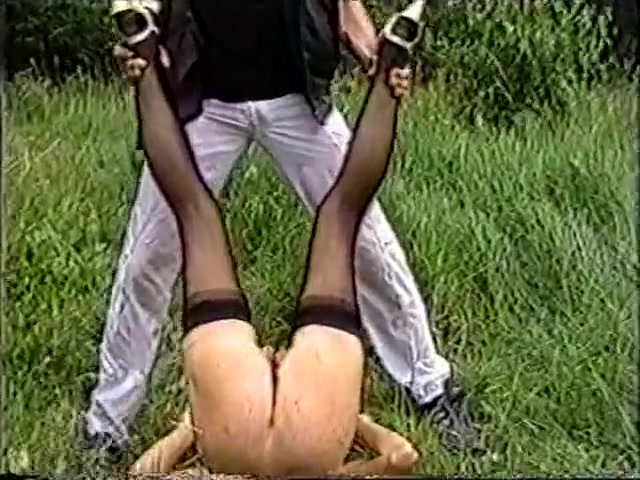 Anita Feller and another female slave outdoor session