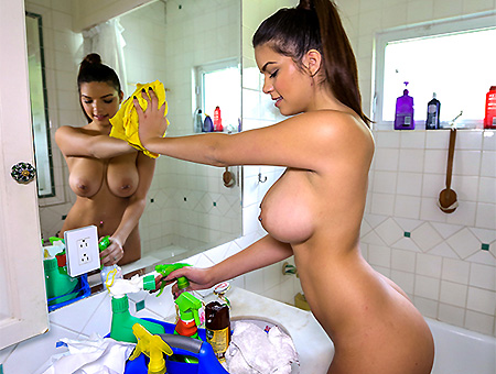 Carrie Brooks in The Best Nude Cleaning Service - BangBros