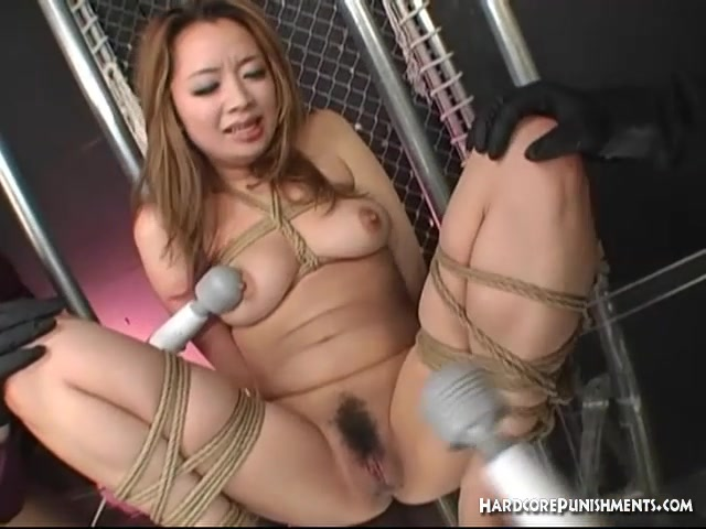 Cute Jap babe in hot BDSM torture session