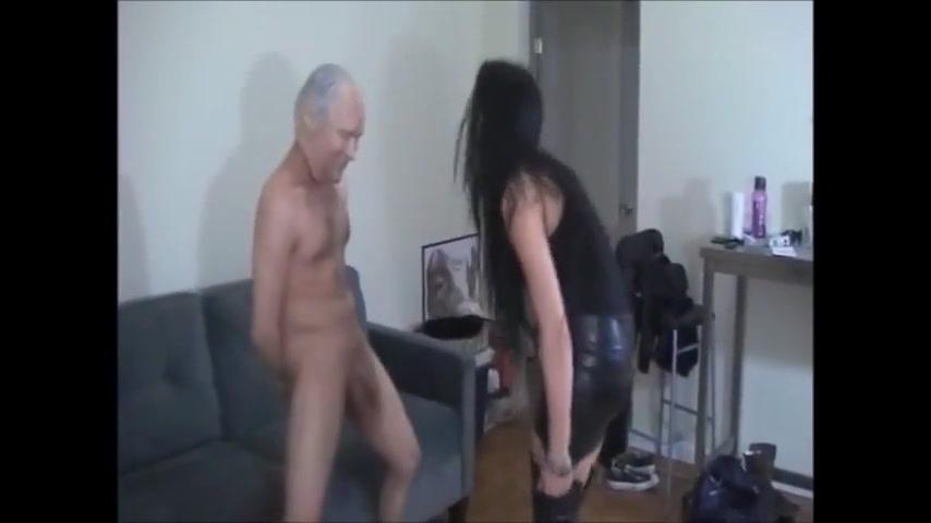 She really enjoys kicking hard his balls