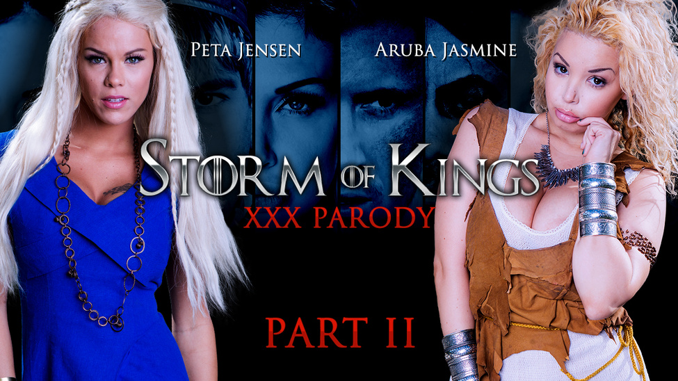Aruba Jasmine & Peta Jensen & Rob Diesel in Storm Of Kings XXX Parody: Part 2 - Brazzers