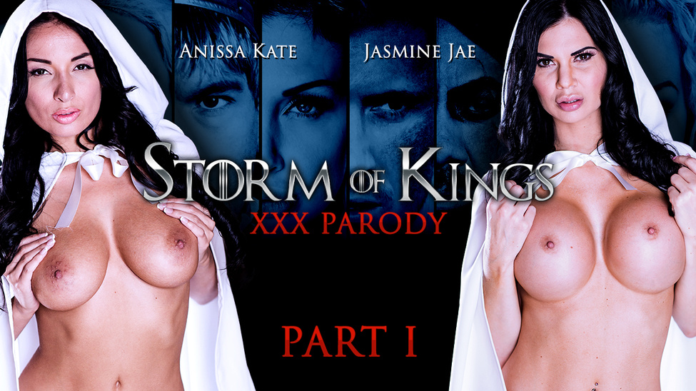 anissa kate and jasmine jae and ryan ryder in the storm of kings xxx parody part 1 - brazzers