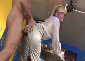Crazy pornstar Laura Crystal in horny cunnilingus, blowjob porn clip