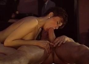 Best pornstar in horny vintage, brunette xxx scene