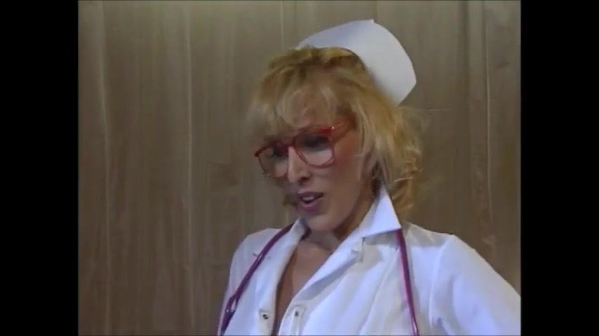 Hot blonde nurses eat each other then one fucks lucky man