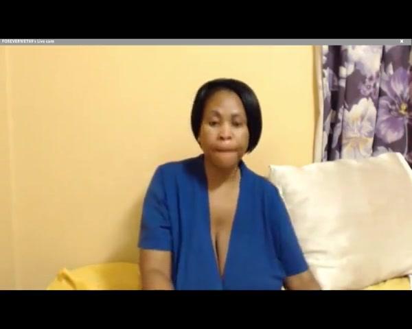Foreverwet: compilation of busty ebony webcam babe