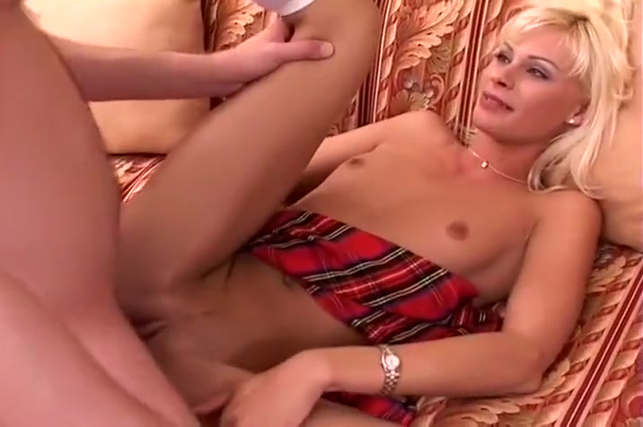 Fierce Blond Coed Taking Massive Cock