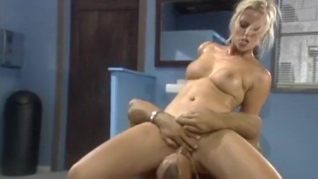 Bombshell Blonde Taking Dick In The Bathroom