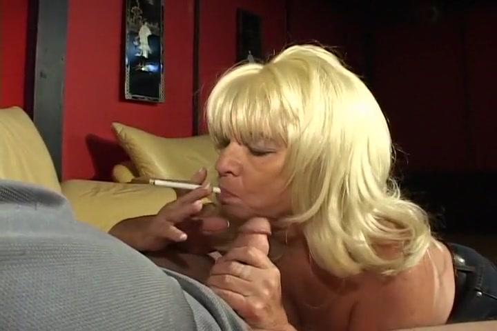 Blond Granny Blows Stud Like A Pro