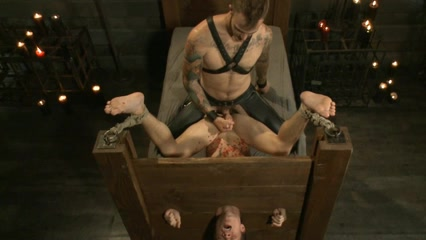 BDSM bondage gay boy is fucked and milked Boese Buben Berlin