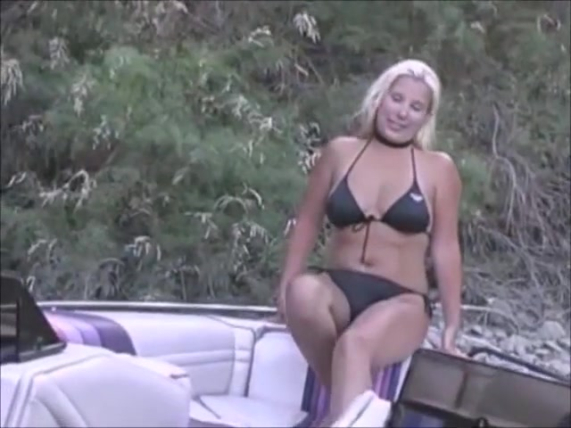 blonde with papaya tits takes a facial