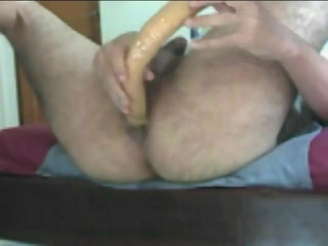 Me fucking a huge dildo - Big monster huge dildo in my ass