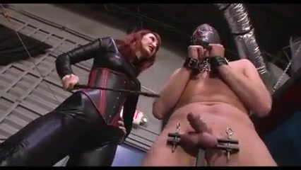 Mistress Beating A Slaves Cock And Balls