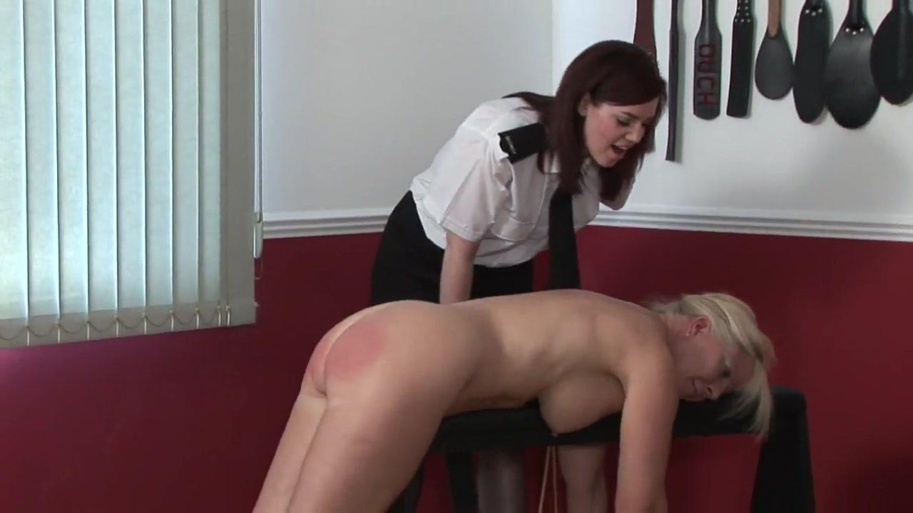 Spanking mature lady