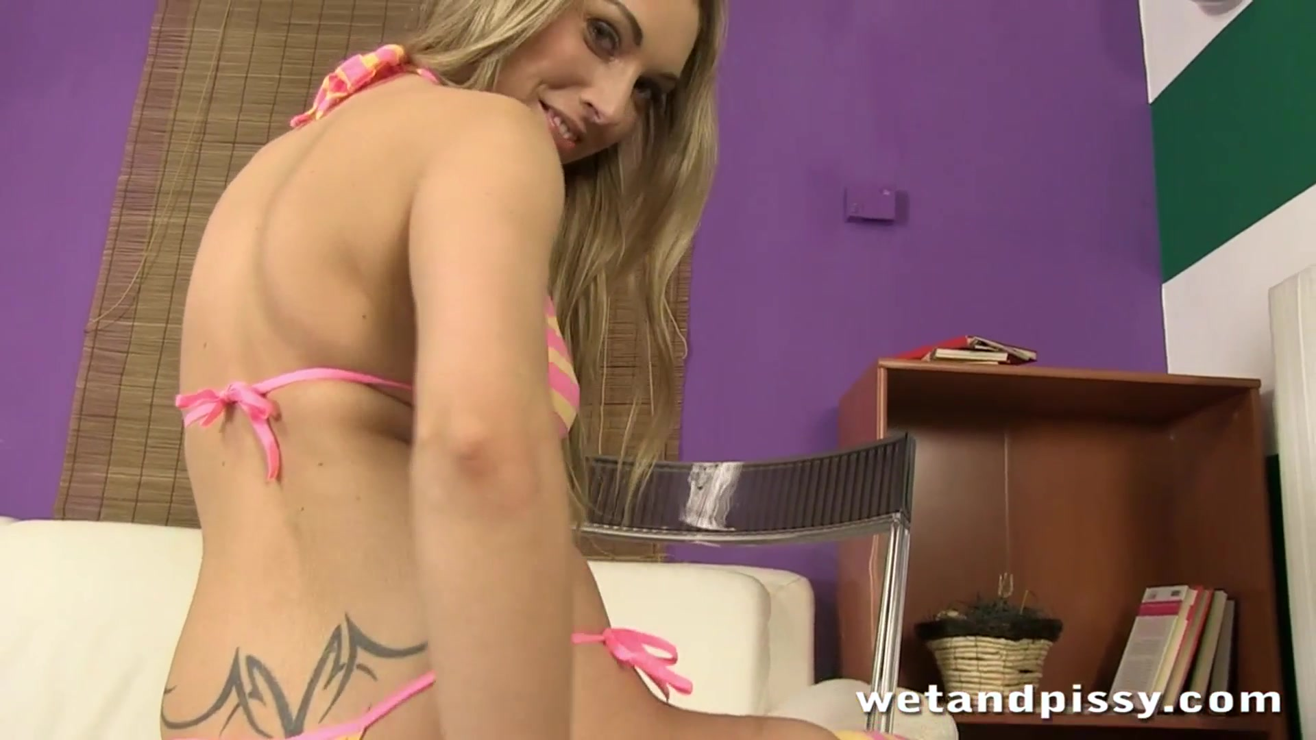 Blonde girl enjoys her first time ### on camera