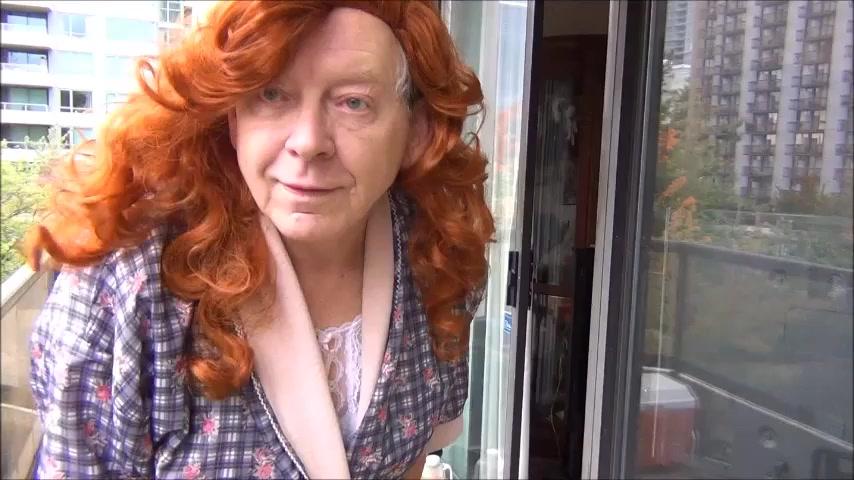Naughty gigi - redhead in white