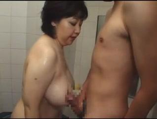 Japanese Older In Shower1020