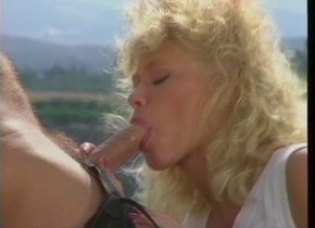 Horny pornstar Kristina King in incredible vintage, blowjob porn movie
