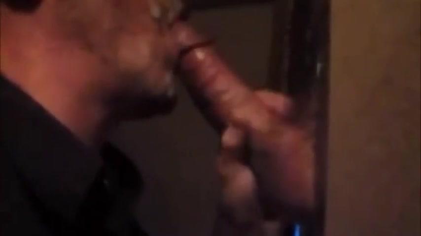 Hot cocksucker at gloryhole