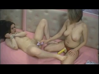 two lesbo nubiles do light thraldom camshow part two
