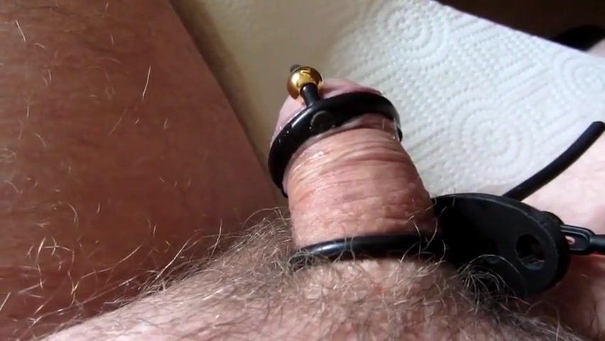 Electro stimulation of my cock first video