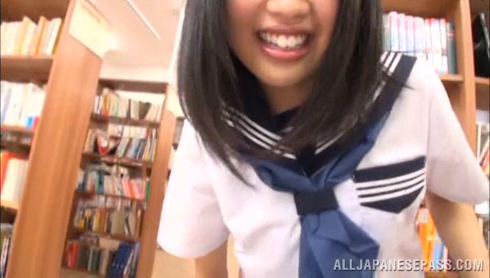 Nice Asian teen is a wild one in her school uniform