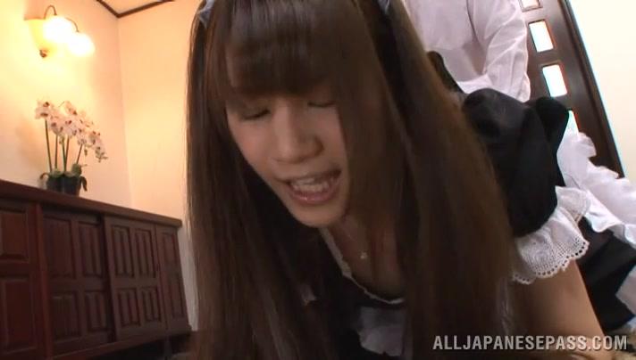Ai Nikaidou naughty Japanese maid is a horny teen