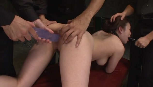 Japanese AV model is naughty hot milf in threesome sex