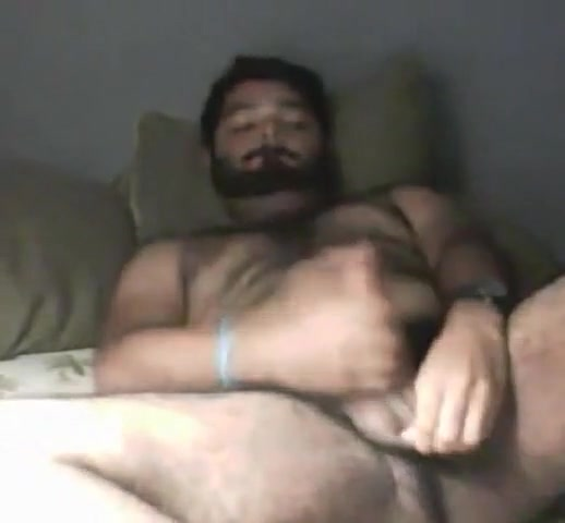Hairy cub bear with hairy ass wanking