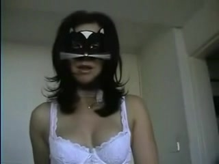 Hot masked mistress fists submissive male slave