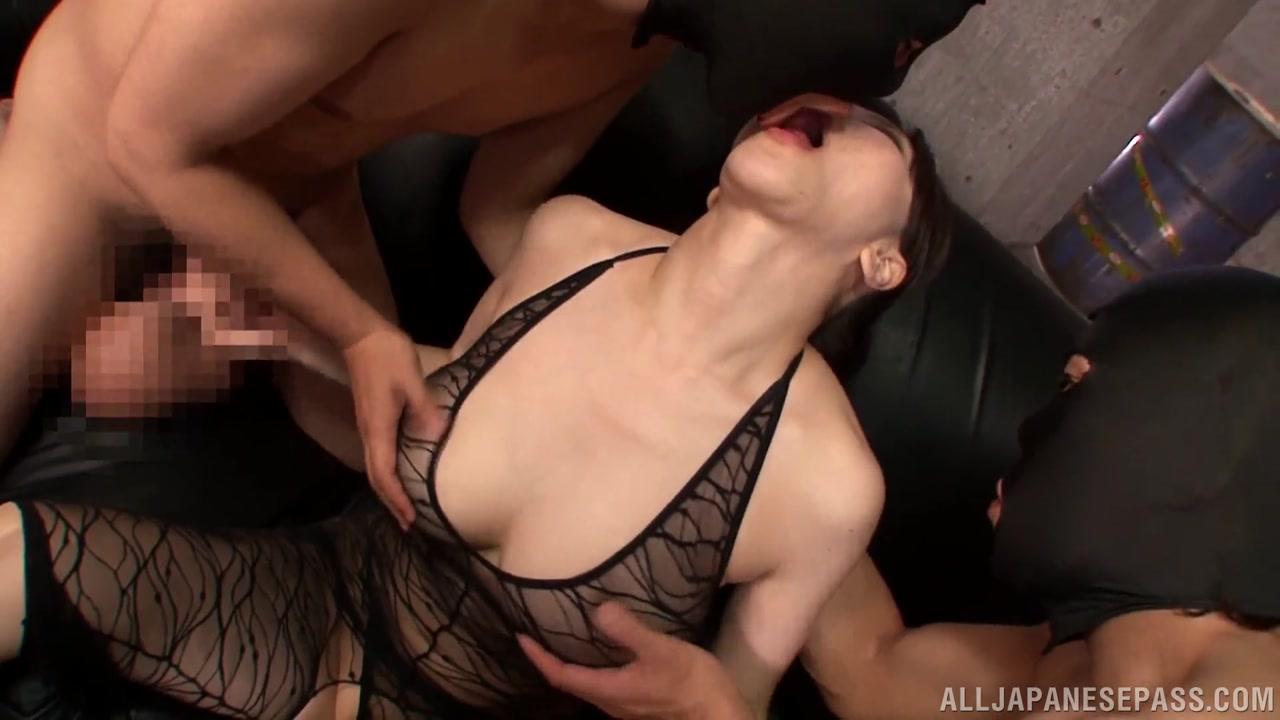 Alluring Asian milf Anri Okita enjoys a hardcore threesome
