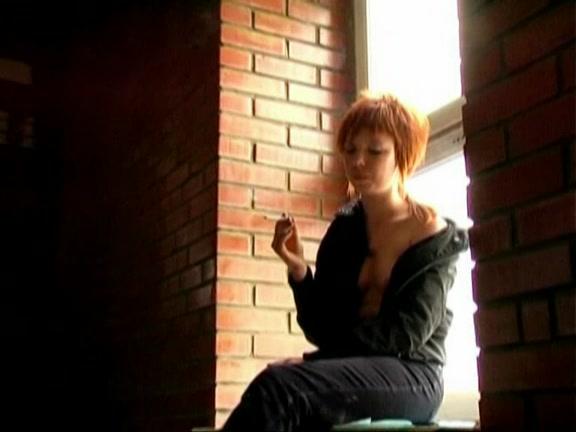 Aggressive Lady in the Porch