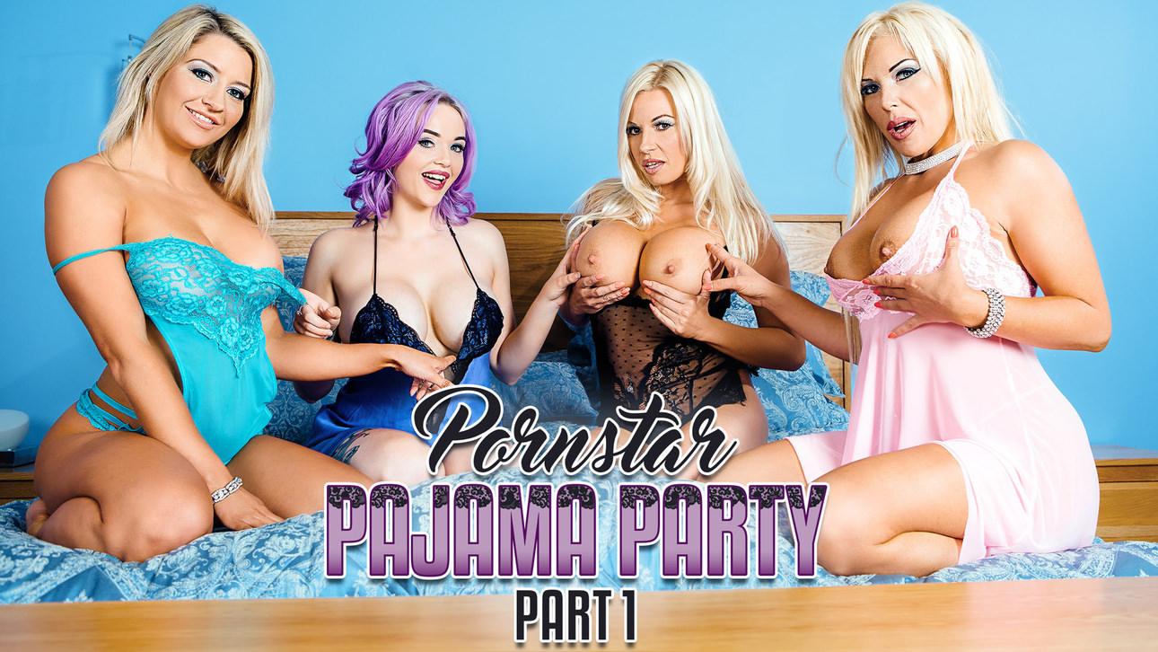 aaliyah ca shovel & jasmine james & michelle thorne & sienna day in porn star pajamas part 1 - digitalplayground