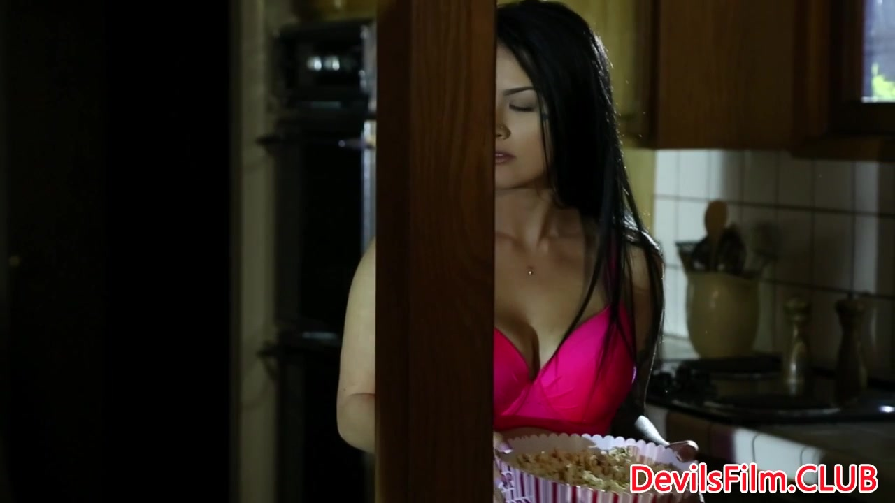 Bound busty babe cockriding her captor