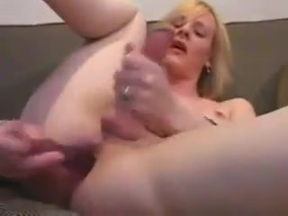 Blonde Shemale Solo