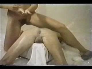Sexy vintage BDSM fisting movie of a male slave