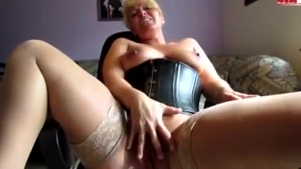 blonde nympho with short hair bottom sensually fingers